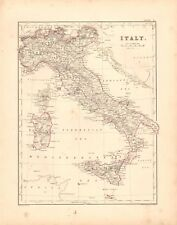 1868  ANTIQUE MAP -  ITALY