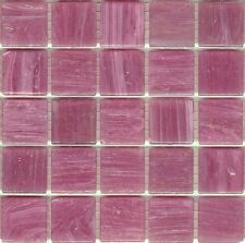 25pcs SM14 Lolly Pink Bisazza Smalto Italian Glass Mosaic Tiles 2cm x 2cm