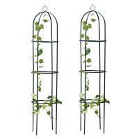 2 x New 1.9m Outdoor Garden Metal Obelisk Climbing Plant Support Frame Trellis