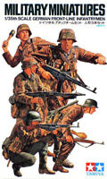 Tamiya 35196 WWII German Front Line Infantry 1/35 Scale Plastic Model Figures