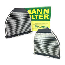 For Mercedes W218 A207 R231 C204 V212 Pair Set of 2 Cabin Air Filters Mann