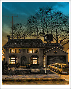 """742 Evergreen Terrace"" SIMPSONS print by TIM DOYLE Nakatomi"