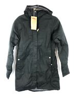 Fjallraven Women's Kiruna Padded Parka, Black Hooded Coat, Size Small
