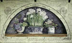 """TAPESTRY, 54x32 """"Trio of Paperwhites Floral"""" -Free Shipping"""