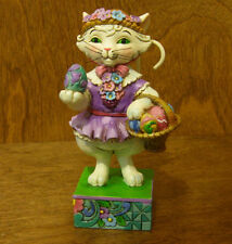 Jim Shore Heartwood Creek #4037609 EASTER CAT Purrfect Day for Egg Hunt, Enesco