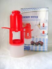 NEW CHERRY & OLIVE PITTER - PUSH TO PIT, REMOVE SEEDS STONES CATCHER RED EDCO