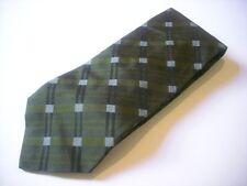 TKR281 MONTI Krawatte grün Karo 100% Seide wie Neu!