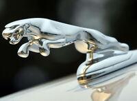 Jaguar F-Pace XEL XFL XJ Emblem 3D Silber Kühlerfigur Haube Ornament Motorhaube