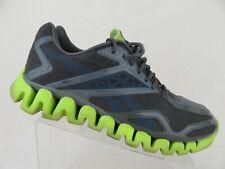 new style 80682 e9c3a REEBOK Zigtech Zigsonic Grey Green Sz 12 Men Running Shoes