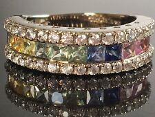 Victoria Wieck Collection 2.74ctw Multi Color Sapphire & White Zircon Ring 9