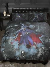 ALCHEMY GOTHIC EMO SKULLS SKELETONS BLACK MAGISTUS SINGLE BED DUVET COVER SET