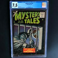 MYSTERY TALES #43 (Atlas 1956) 💥 CGC 7.5 OW 💥 ONLY 2 HIGHER! Bill Everett Cvr