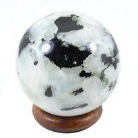 Natural White Rainbow Moonstone Chakra Healing Power Sphere Ball 35-40MM