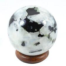 Rainbow Moonstone Sphere Ball Reiki Healing Home Décor Natural Crystal 35-40MM