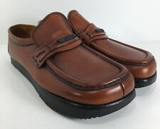 Kalso Earth Shoe Vintage Leather Womens Loafers Sz 6.5M Grounded Heel Tan EUC n