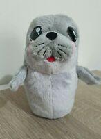 Grey Seal Cub Pup Squeak Soft Plush Stuffed Animal Toy 19CM Tall