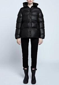 Hunter Women's Original A-Line Puffer Jacket: Black UK Size Large VR261 010