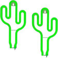 """2x Grüne Neon-Leuchte Lampe """"Kaktus"""" batteriebetrieben ca 26x14cm in Geschenkbox"""