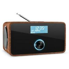 Digitalradio DAB+ Radiowecker Tuner Bluetooth Lautsprecher LCD-Display Walnuss