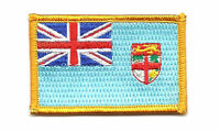 FIJI FLAG PATCH BADGE IRON ON NEW EMBROIDERED