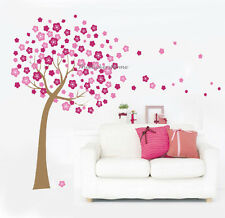 HUGE PINK CHERRY BLOSSOM FLOWER TREE Wall Stickers Art Decal Vinyl Wallpaper
