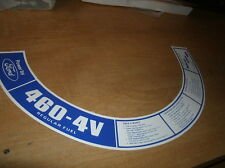 1973 FORD COUNTRY SQUIRE BROUGHAM 460 4V AIR CLNR DECAL