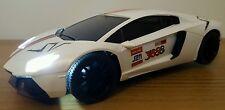 LAMBORGHINI AVENTADOR  RADIO REMOTE CONTROL CAR - LEDS 1:16 FAST SPEED - WHITE