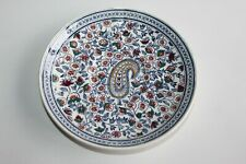 Ancienne sous-tasse en faïence de Gien décor Cachemire diamètre 15 cm (3)