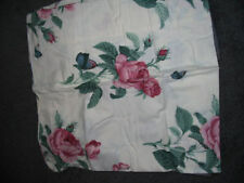**NEW** ROSE FLORAL**FLANNEL**KING FLAT SHEET**WHITE ***PINKS**GREEN