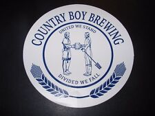 COUNTRY BOY BREWING Cougar Bait united we stand STICKER decal craft beer brewery