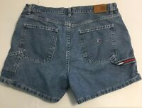 Wmn's Tommy Hilfiger Vintage 90s Carpenter Jean Shorts Sz 16 Mom Denim USA Mex