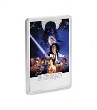2017 Star Wars Return Of The Jedi Poster Coin - 1 Oz. Silver - Ogp Coa