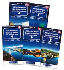 Set Norwegen Regionalkarte 1-5 3 Karten 1:335000 2 Karten 1:400000 Kümmerly+Frey