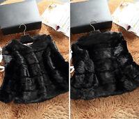 Women's New Overcoat 100% Real Rabbit Fur Short Coat Waist-length Jacket Outdoor