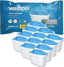Wessper SPORT 12er Pack Aquamax Wasserfilter Kartuschen komp. mit BRITA Maxtra