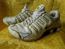 used Nike Shox NZ, weiß-gold Vollleder mit Lackleder, Gr.43, gerne getragen