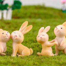 7pcs Easter decorations Figurines Fairy Garden Miniatures Resin Craft Landsca FT