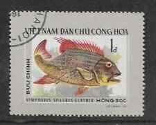 VIETNAM POSTAL ISSUE - 1976 USED SALT WATER FISH STAMP SYMPHORUS SPILURUS