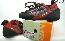 Mad Rock Pulse Negative Climbing Shoes- Red Low Volume- Mens Size 7 Us Euro 39.5