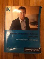 Kaplan Series 65 Uniform Investment Adviser Law Exam Manual - 8th Edition