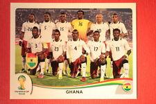 Panini BRASIL 2014 N. 527 TEAM GHANA WITH BLACK BACK TOPMINT!!