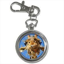 Giraffe Face Pocket Watch Keychain