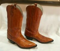 NOCONA Brown  Leather Pointed Toe Western Boots  Women's Size 6.5 B