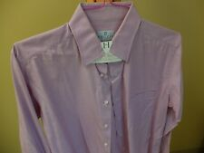 TRUZZI Milano Lavender Dress Shirt 16/41 Spread Collar SUPERB