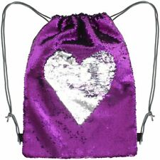 Reversible Sequin Drawstring Bag Magic Mermaid Reverse Flip Sequined Backpack