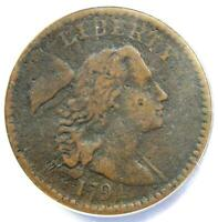 1794 Liberty Cap Large Cent 1C Coin - Certified ANACS VF25 Details - Rare Coin!
