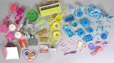 Vtg Barbie Doll Accessory Lot 93 Items 70s 80s Pot Pan Tea Set Jewelry Passport