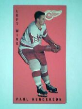 PAUL HENDERSON DETROIT RED WINGS '64-65 PARKIES TALL BOY PRE-ROOKIE REPRINT CARD