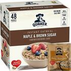 Quaker Instant Oatmeal Maple Brown Sugar, Breakfast Cereal, 48 Packets