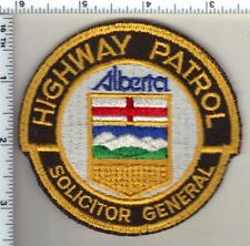 Alberta Highway Patrol Solicitor General (Canada) Shoulder Patch from 1980-84